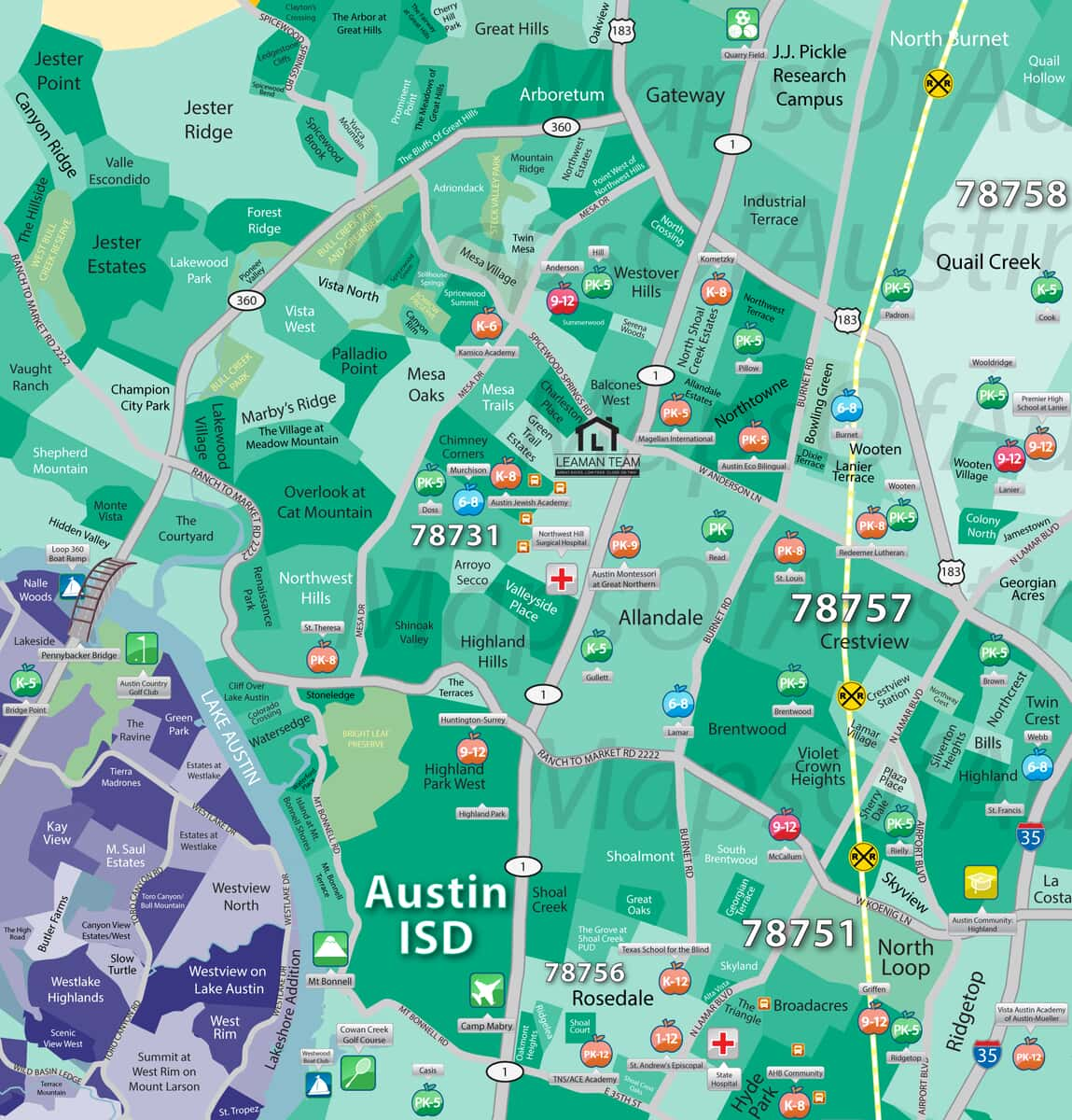 Map Of Texas District 6.North Central Austin Tx North Central Austin Neighborhoods Maps