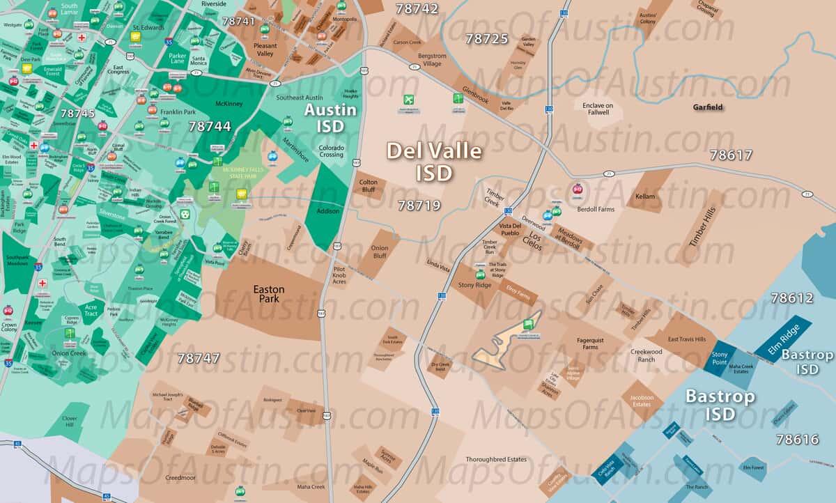 Southeast Austin, TX - Southeast Austin, TX Neighborhood Map ...