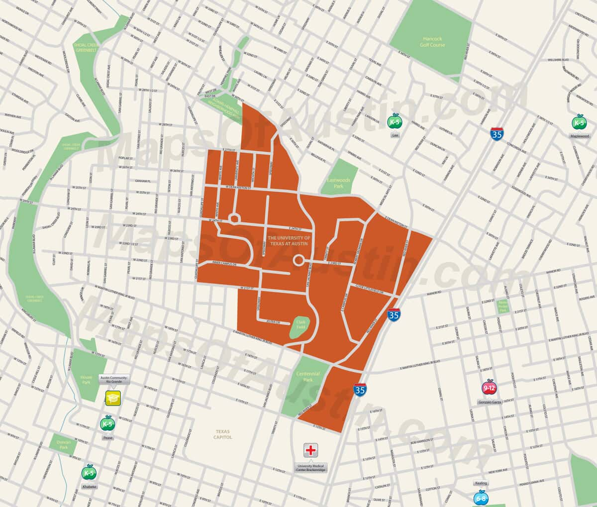 Map Of Texas University Austin.University Of Texas At Austin Austin Tx University Of Texas At