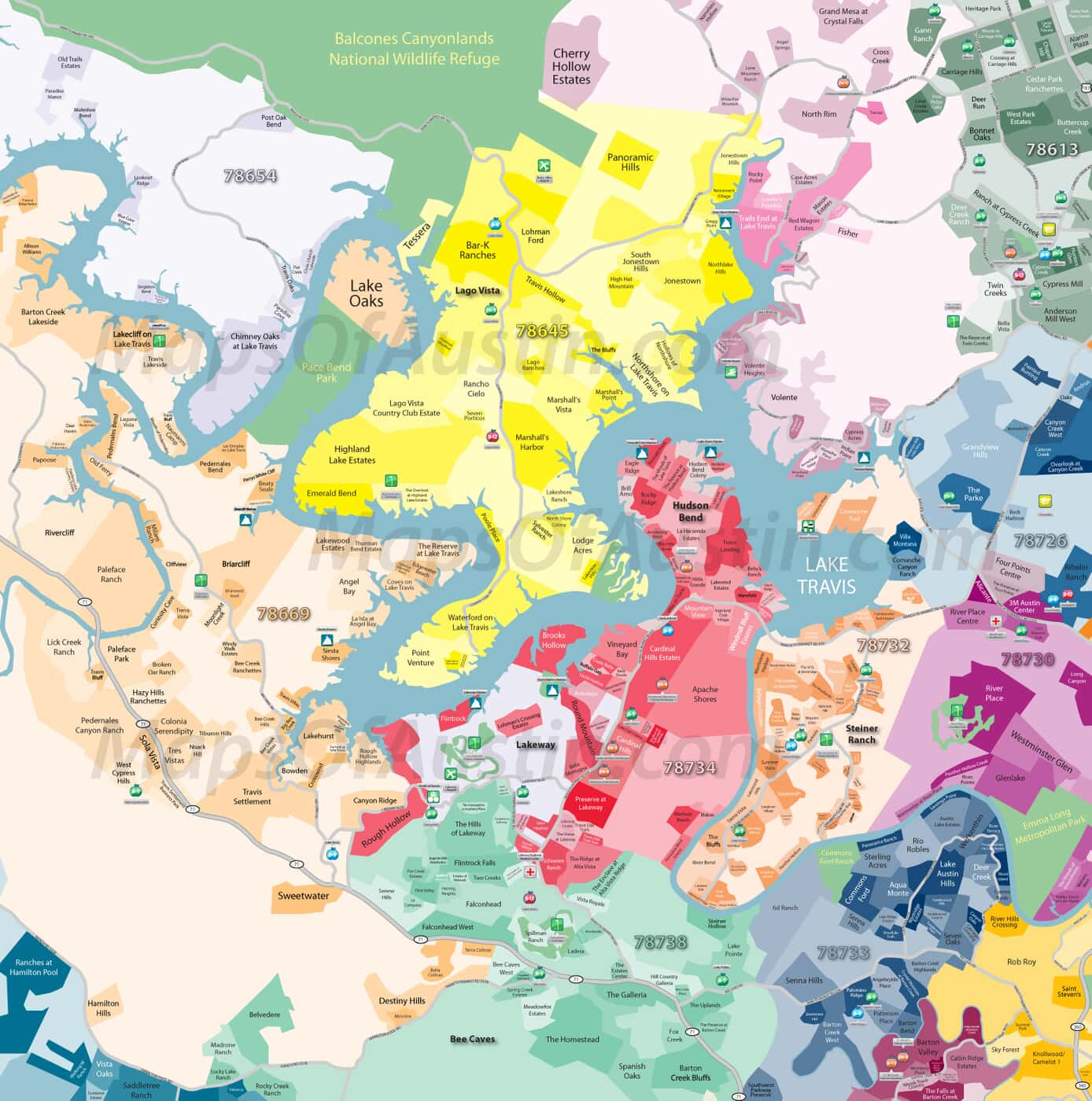 Map Of Austin Texas And Surrounding Areas.Lake Travis Tx Lake Travis Neighborhood Map Maps Of Austin