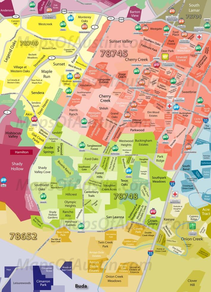 Map Of Northwest Austin Texas Austin Free Printable Images World